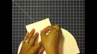 Watch Me Wednesday :: Creating A Shaped Dress Card