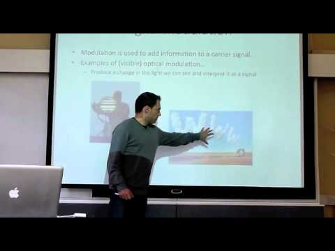 TCD optical networks video lectures: sources, modulations an