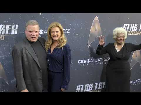 William Shatner and Elizabeth Shatner at the Star Trek Discovery Premiere at ArcLight Theatre in Hol