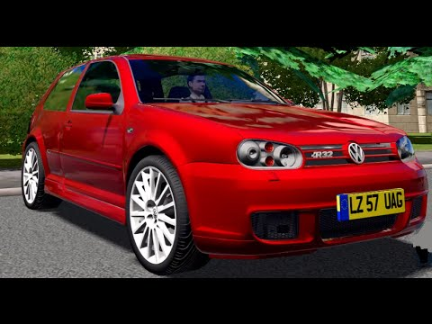 city car driving volkswagen golf iv 4 r32 download. Black Bedroom Furniture Sets. Home Design Ideas