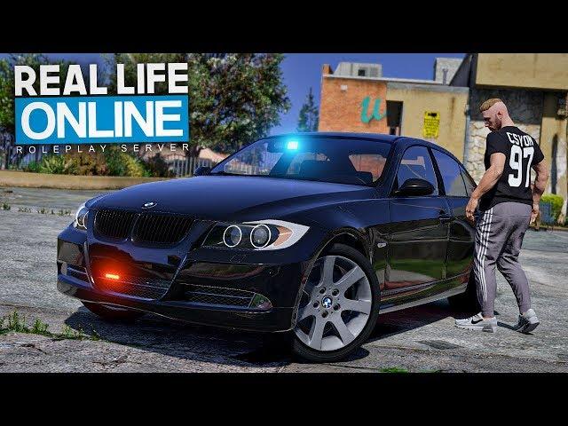 Mit GEKLAUTEM POLIZEIAUTO angehalten werden? - GTA 5 Real Life Online