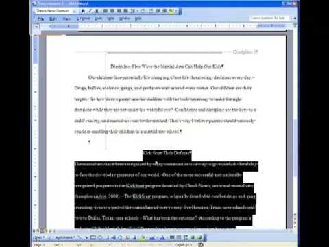 APA Citation 5th Edition-Microsoft Word \u002703-Research  Term Paper