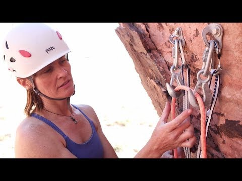 How to Set Up a Top Rope Anchor on Two Bolts