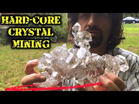 Digging Herkimer Diamond Quartz Crystals | Hardcore Mining! | Treasure Hunting!