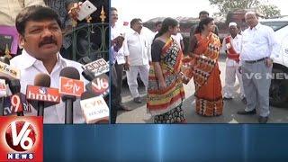 Warangal Urban Collector Amrapali Visits Khamma Municipal Corporation | V6 News