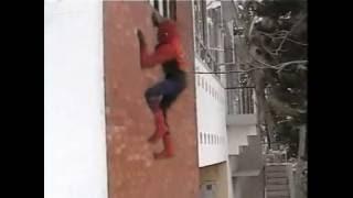 Spider-man Wall climb- Green screen