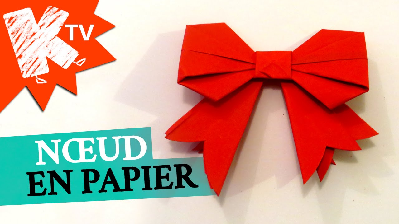 Noeud en papier origami facile youtube - Comment faire une decoration de noel en papier ...