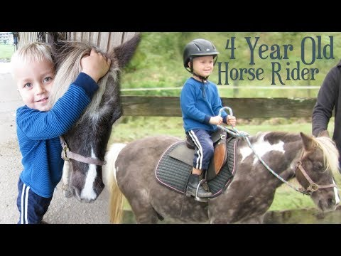 4-Year-Old Horse Rider!