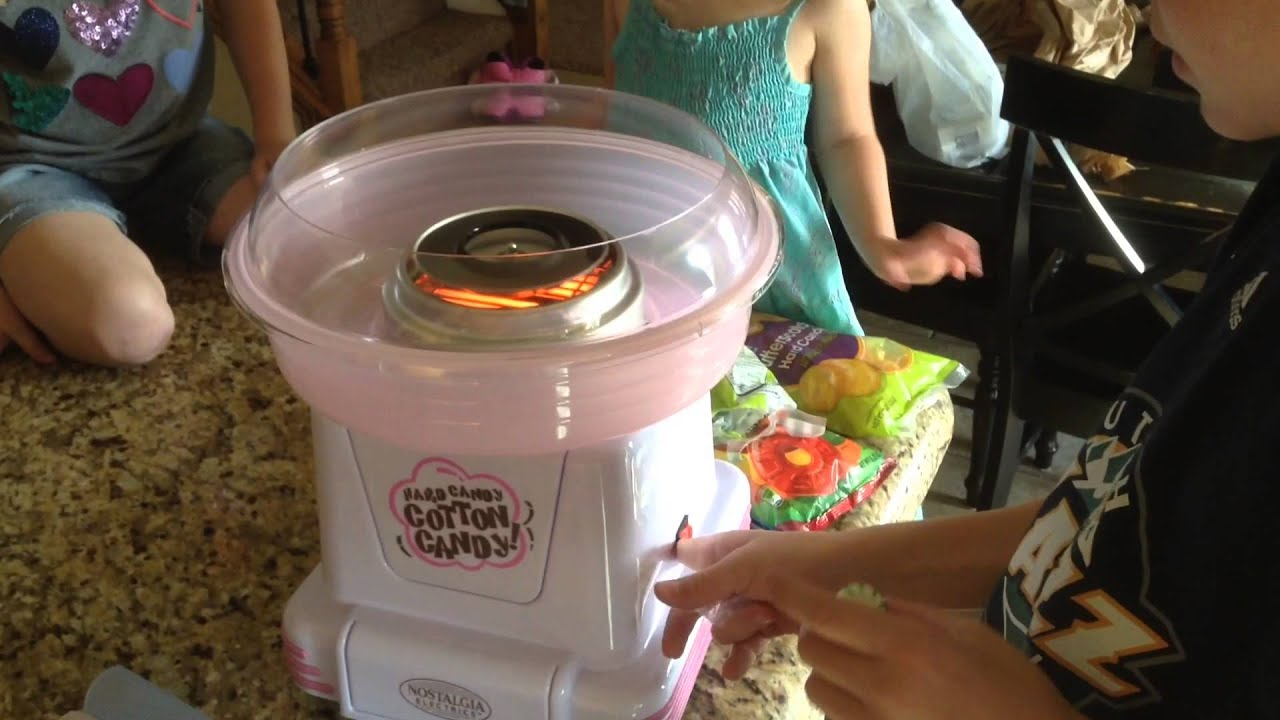 nostalgia electrics cotton candy maker instructions