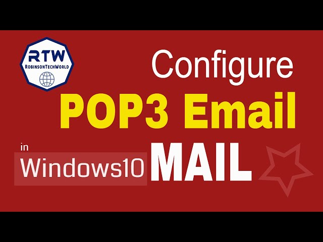 How to configure POP email in Windows10 mail