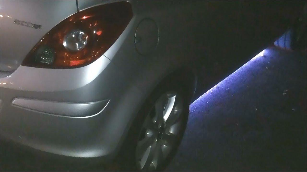 Opel Corsa D LED Unterbodenbeleuchtung RGB ROT GRÜN BLAU wie Astra ...