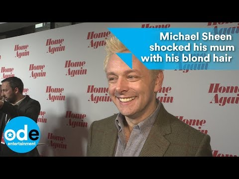 Michael Sheen shocked his mum with his blonde hair