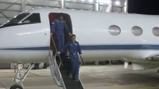 Space Station Astronauts Arrive in Houston for Homecoming