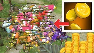 30 STACK 5K GOLD FARMING | Dota 2 Ability Draft