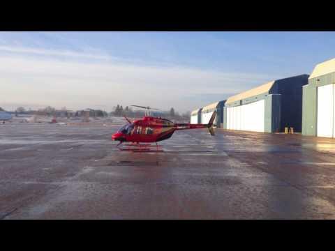 Aviation Services Unlimited Bell 206 B3 Jetranger Startup & Departure