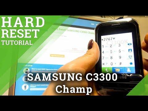 Hard Reset SAMSUNG C3300 Champ