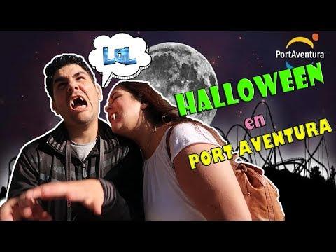 Port Aventura HALLOWEEN  2017  Video vlog parque de atracciones LOL retos divertidos