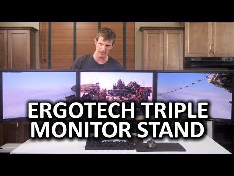 """Ergotech Triple 27"""" Modular Monitor Stand"""