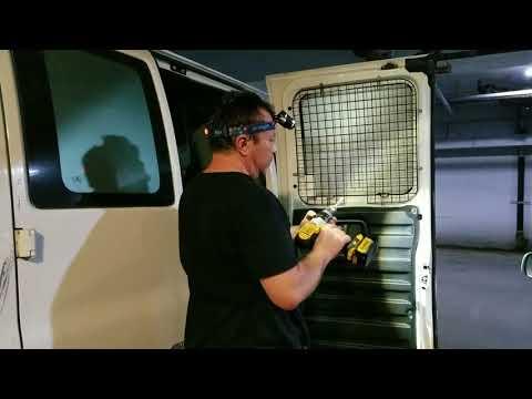 Rear Door WEATHER GUARD 88022 Ford Van Window Screen