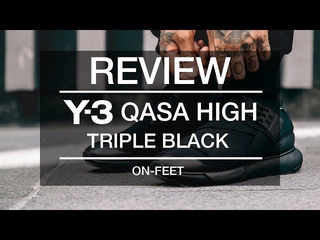 719dd9d92 Review  Y-3 QASA High Triple Black + On-Feet - VidInfo