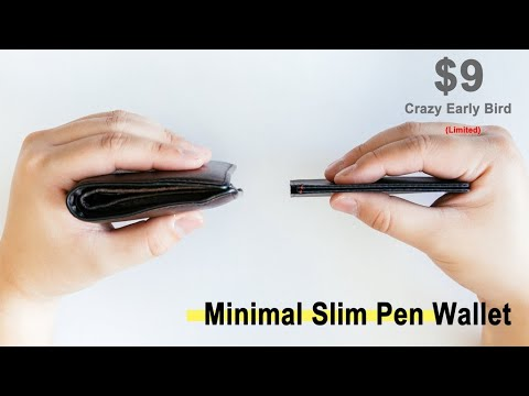 Now On Kickstarter: Minimal Slim Pen Wallet l The Thinnest PenWallet For Daily Use