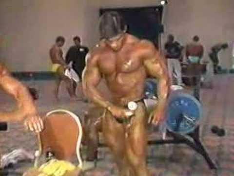 1988 Nationals Bodybuilder Jim Quinn Backstage