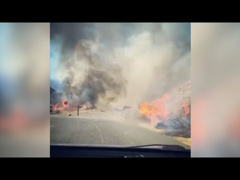 250-acre fire rages in California