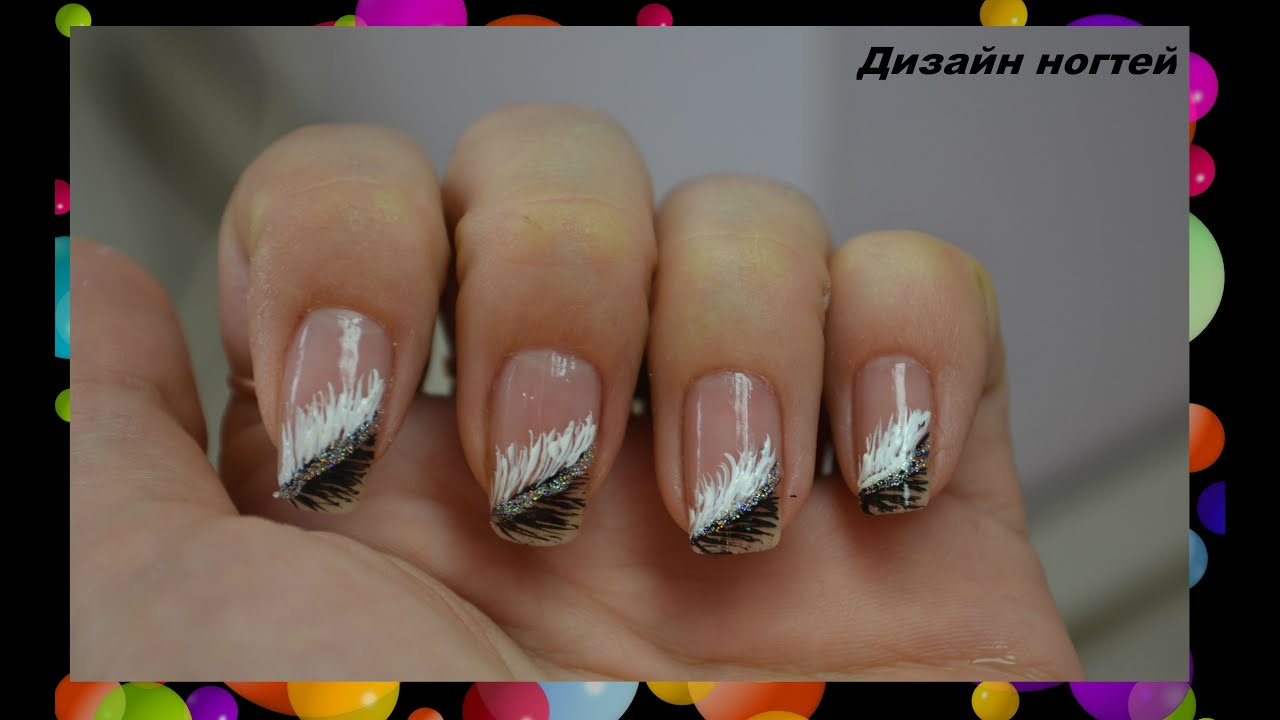 Дизайн ногтей пёрышко