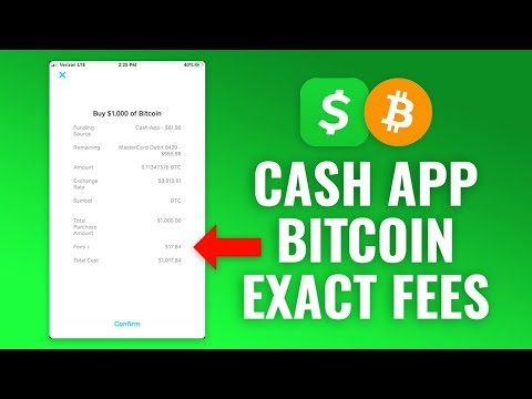 How Much Are Cash App Bitcoin Fees?