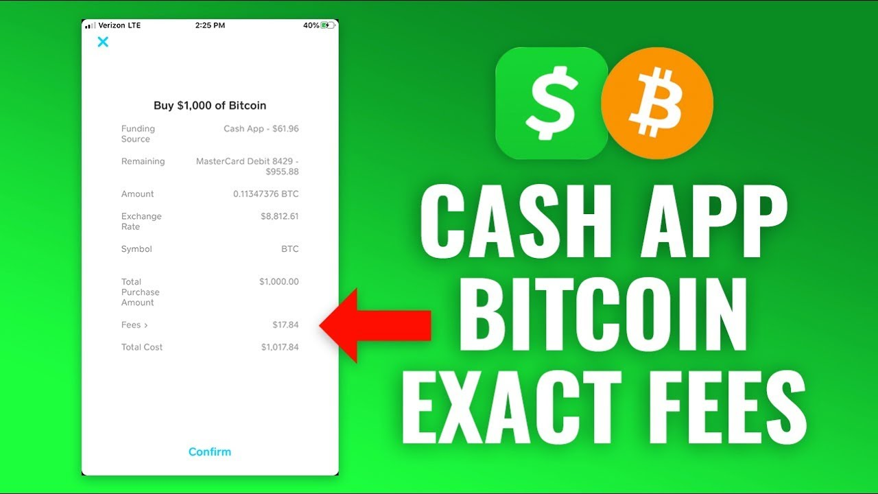 cost to buy bitcoin on cash app