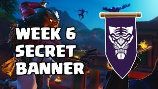 Fortnite - Season 8 Week 6 Challenges | Secret Banner Location | Battle star