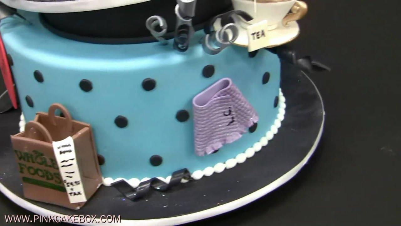 60th Birthday Topsy Turvy Cake