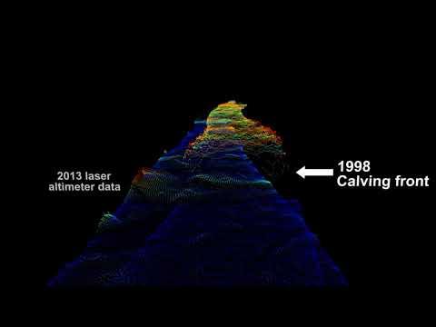 Helheim Glacier is the fastest flowing