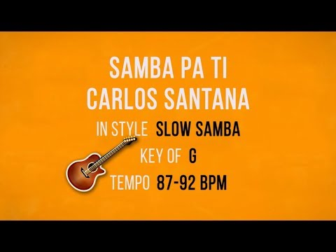 Samba Pa Ti - Santana - Backing Track
