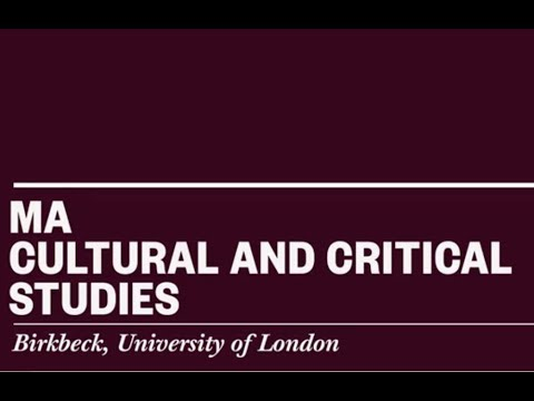 Studying MA Cultural and Critical Studies at Birkbeck