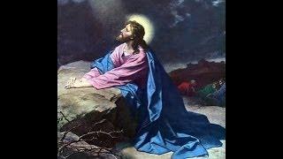 Journey of Jesus to Calvary Cross Jesus prays garden Gethsemane