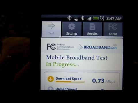 Sprint Speed Test - 4G WiMAX (Costa Mesa, CA)
