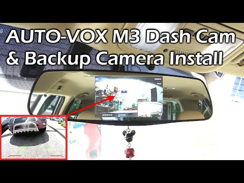 AUTO-VOX M3 Front & Rear Camera Dashcam INSTALL