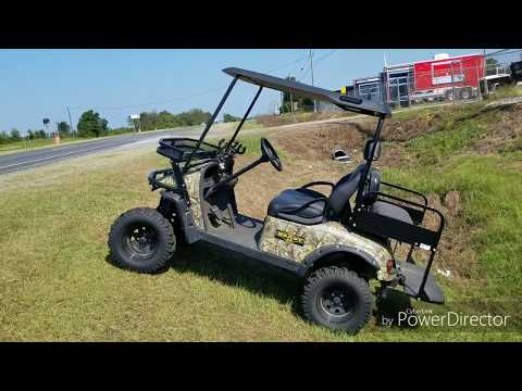 Beast 48 Golf Cart HD Model Electric Hunting Buddy Offload Sxs Golfcart Demo And Review Utv