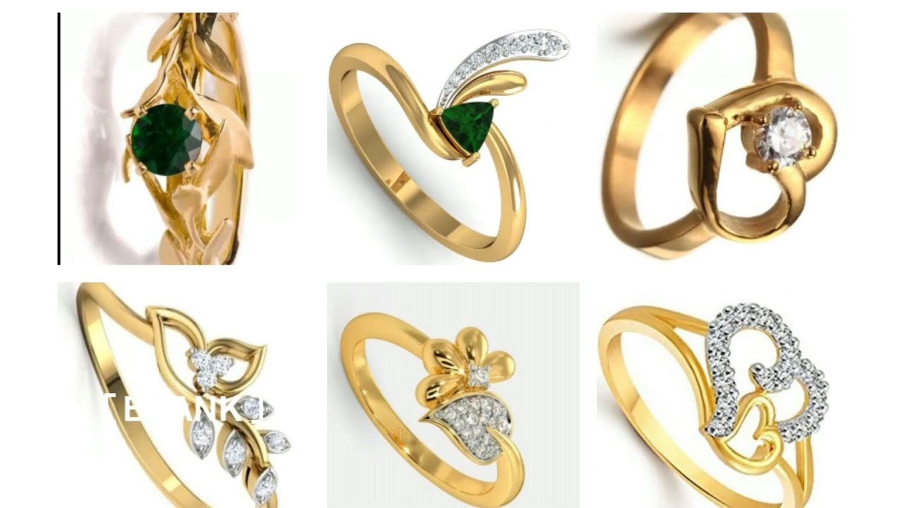 Best New Gold Ring Design For Female In 2020 Youtube