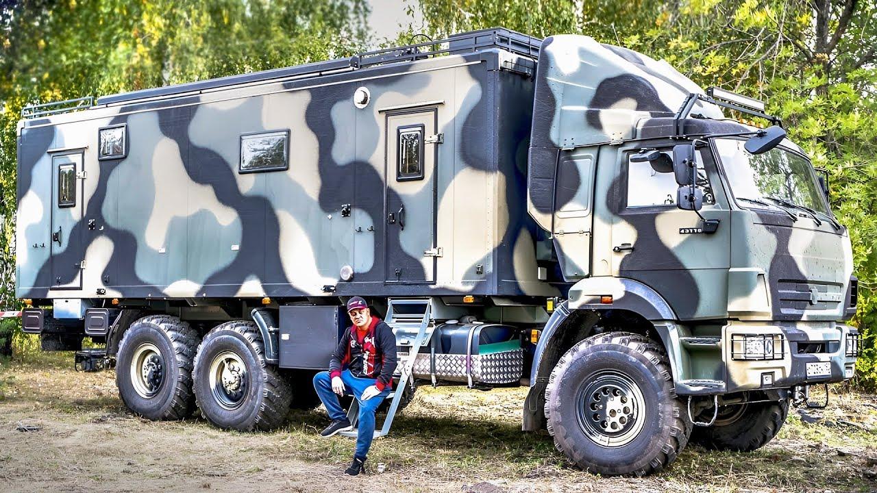 Един уникален автодом, ръчно направен на базата на КАМАЗ! Ще останете без думи!