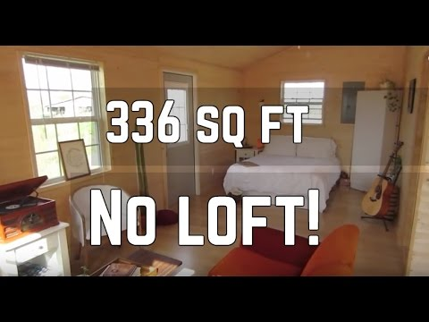 Tiny House Tour 336 Sq Ft Converted Shed Cabin No Loft