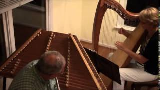 Gentle Lena Clare & Gentle Annie by Ann Robinson & Timothy Seaman on harp, whistle & flute