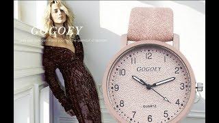 Gogoey Marque Femmes de Montres De Mode En Cuir Montre-Bracelet Femmes Montres Dames Montre