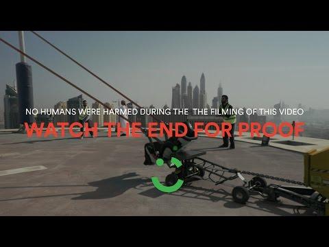 Careem human slingshot stunt in Dubai REVEALED! ;)