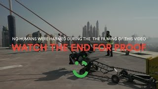 Careem human slingshot stunt in Dubai REVEALED! ;)