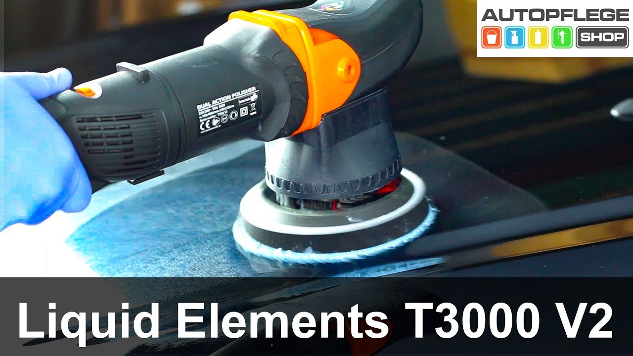 liquid elements t3000 v2 poliermaschine unboxing test. Black Bedroom Furniture Sets. Home Design Ideas