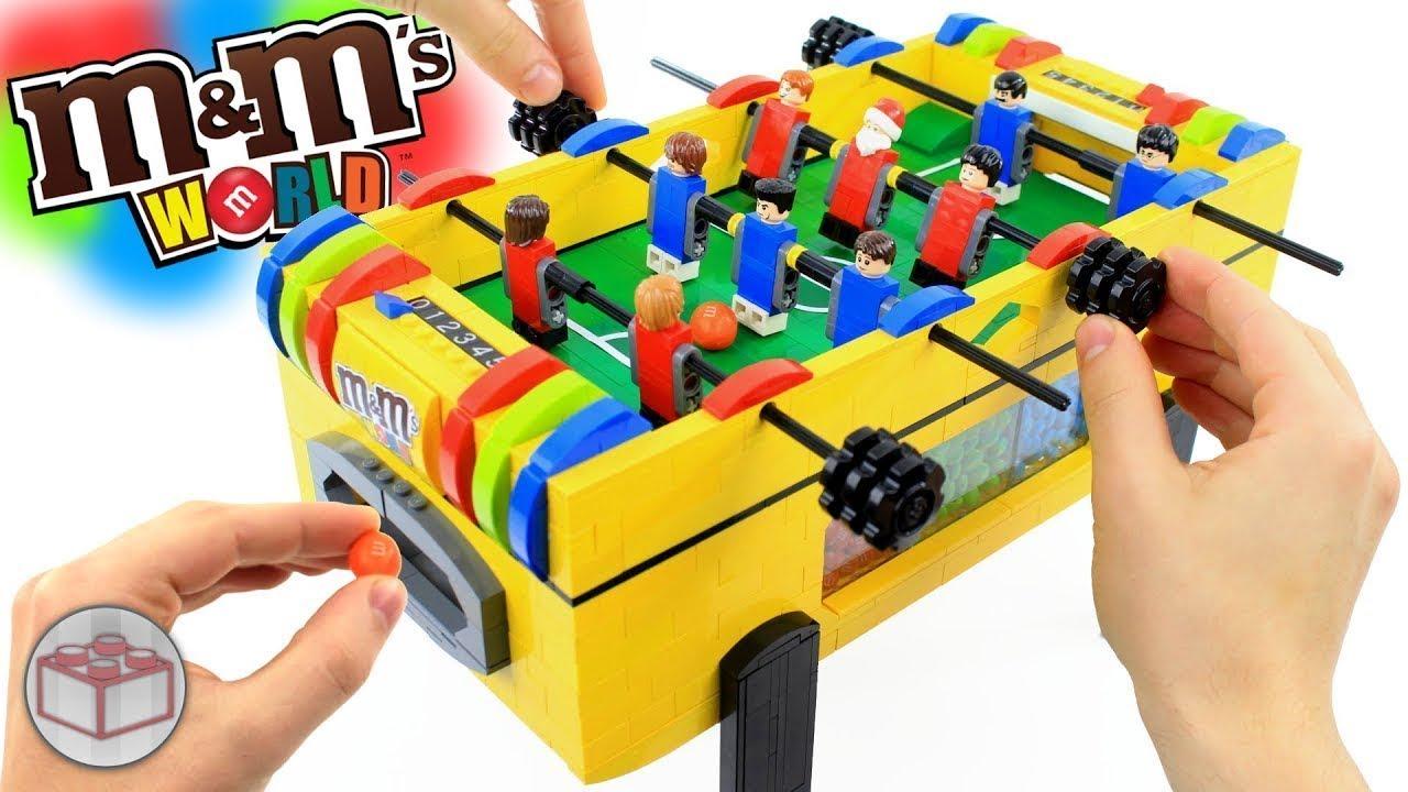 LEGO M&M\'s Foosball Soccer Table - YouTube