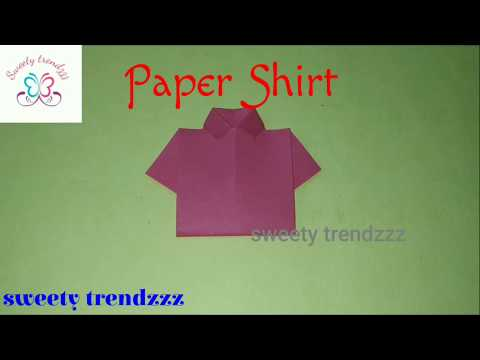 How to Make Paper Shirt | DIY Origami Paper Crafts | Easy Origami | sweety trendzzz