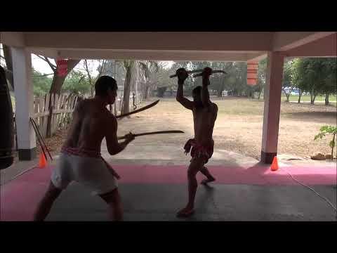 Thai Double Swords Sharp Blades Training